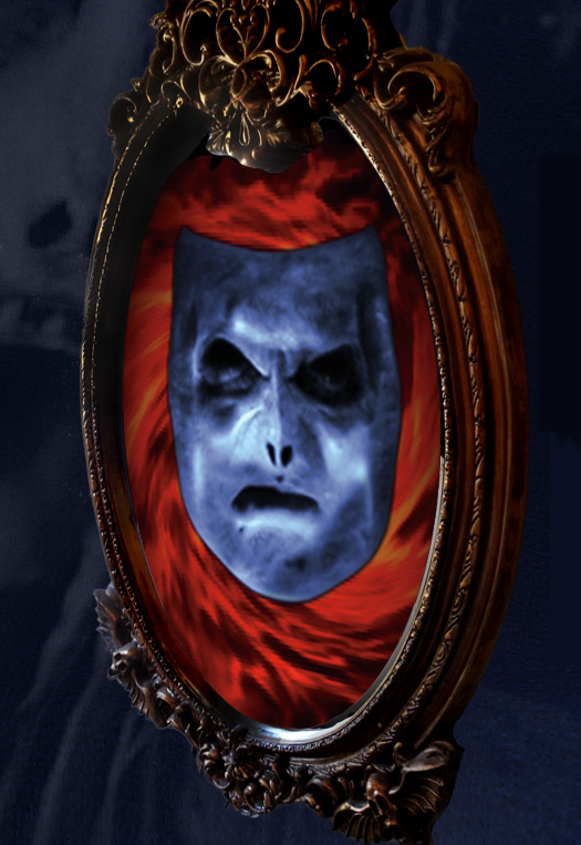 This Bloody Mary in the Mirror prop also transforms into a fairytale mirror for Mirror Mirror on the Wall displays.
