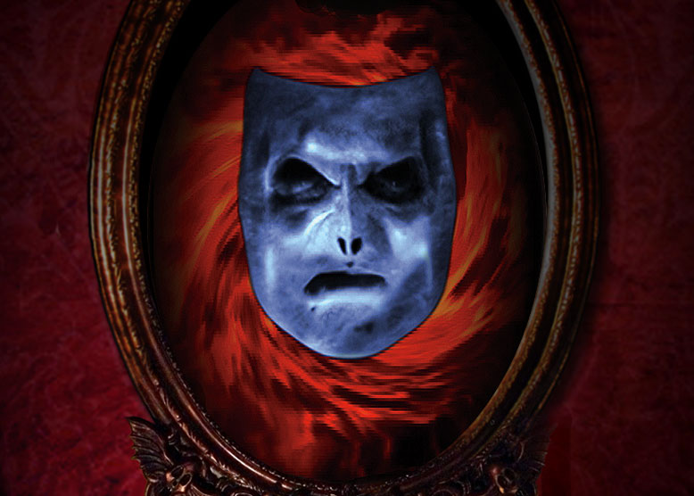 Mirror Mirror on the Wall add-on for the Bloody Mary in the Mirron professional Halloween prop The Scary Mary Mirror