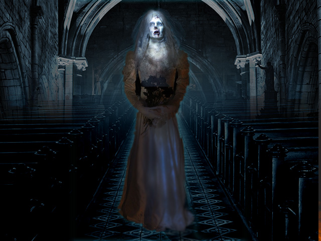 Ghost Bride Full-Body Halloween Video Projection