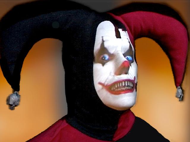 Life-size Evil Clown Halloween Prop