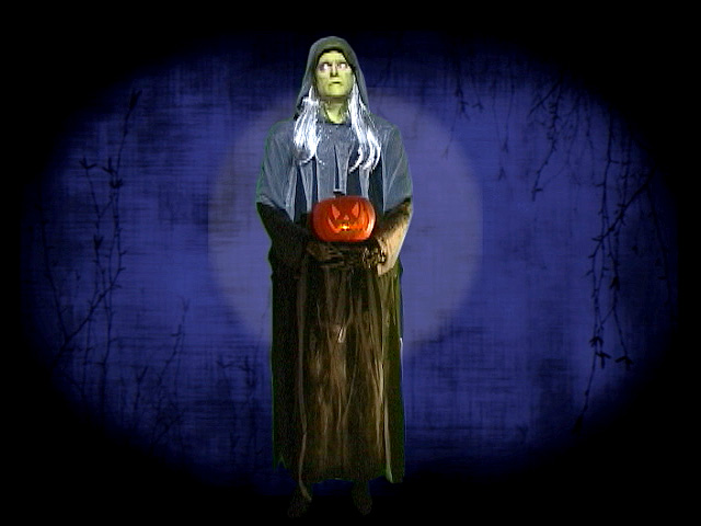 Halloween Witch Full-Body Halloween Video Projection