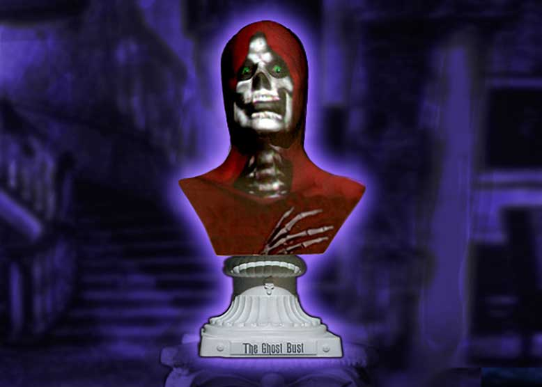 Graveyard Skull Animated Halloween Prop Bust Professional Halloween Prop