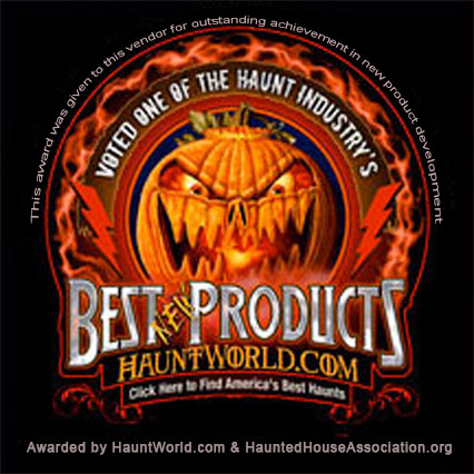 Voted Best New Halloween Product by Hauntworld.com