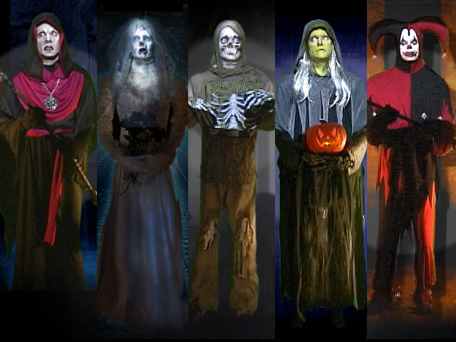 Life-size scary monsters for Halloween