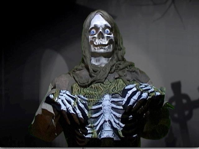 Life-size Skeleton Zombie Halloween Prop