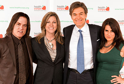 Dr. Oz with Night Frights creators Jean and Mike Fox