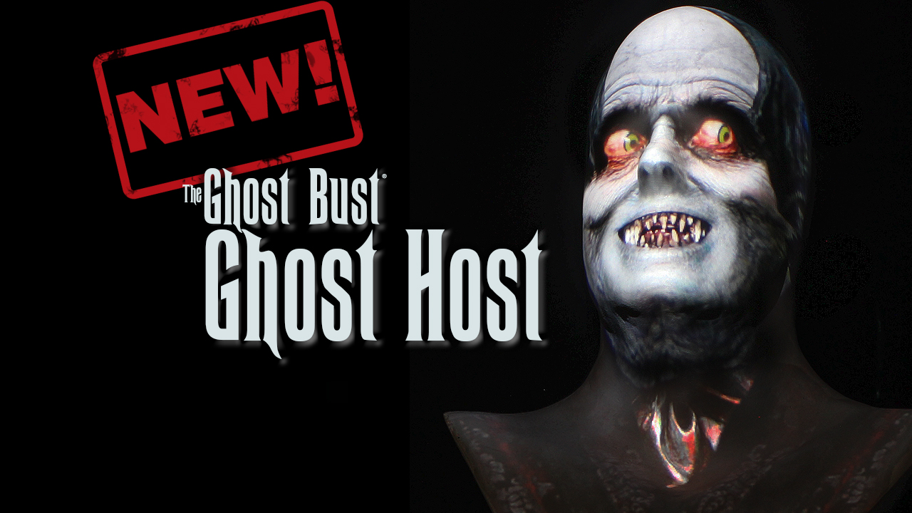 Ghost Host Talking Statue Halloween Prop